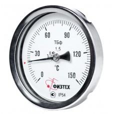 Термометр биметаллический ТБф-120 d.100